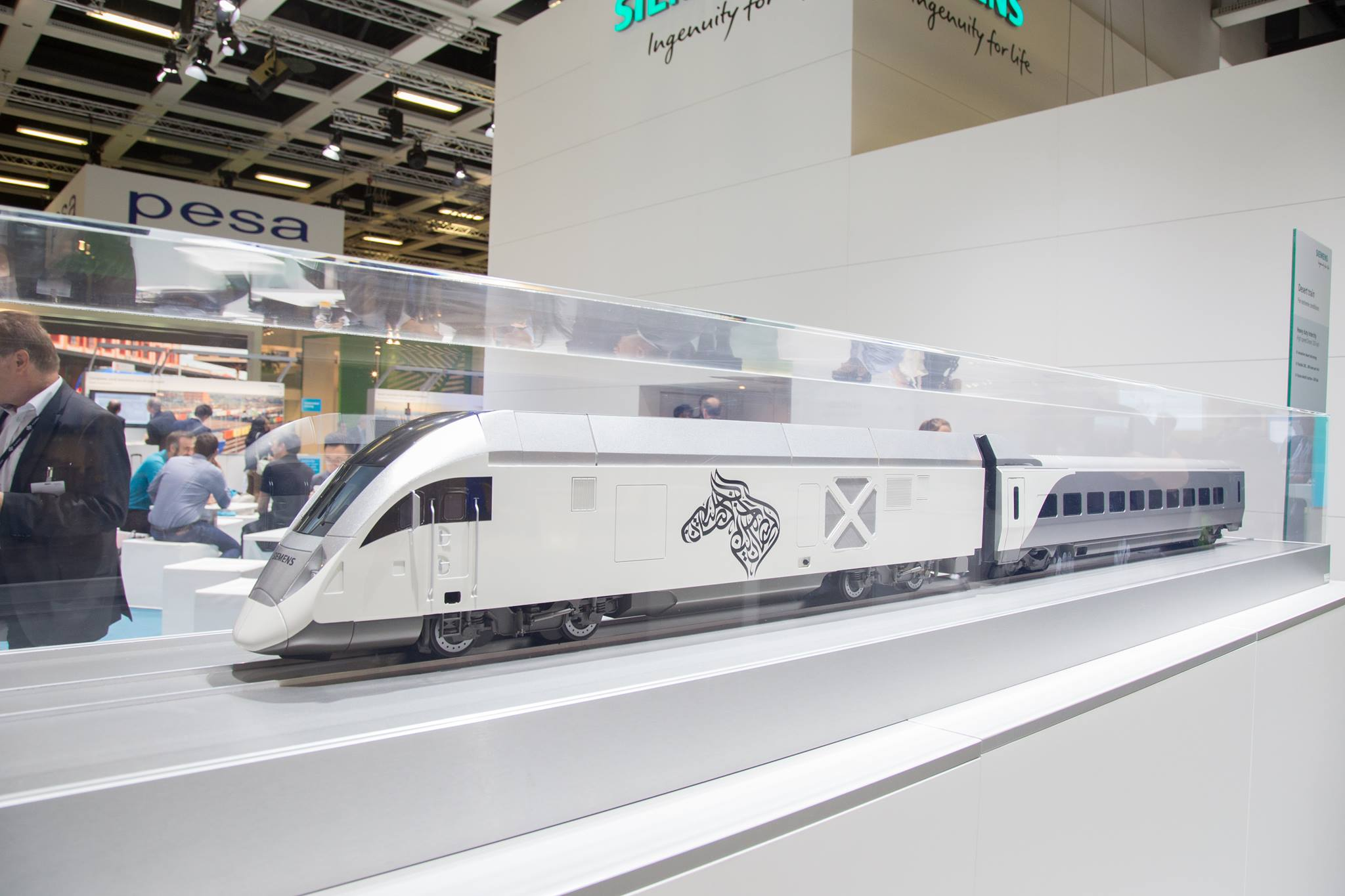 Siemens Charger desert train at the Siemens stand - Henk Zwoferink