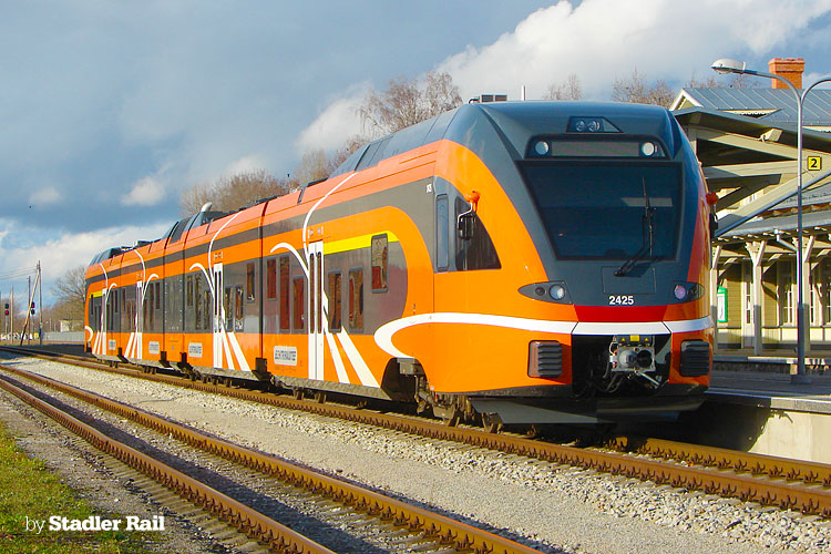 [EE] 38 FLIRT trains in operation in Estonia: Number of passengers increased by 45%