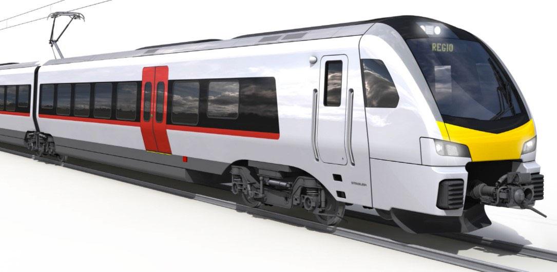 Stadler Rail FLIRT UK bi-mode train for regional services